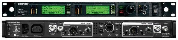 Shure UR4D+ UHF Doppelempfänger