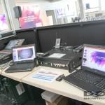 Der FOH mit Laptops.